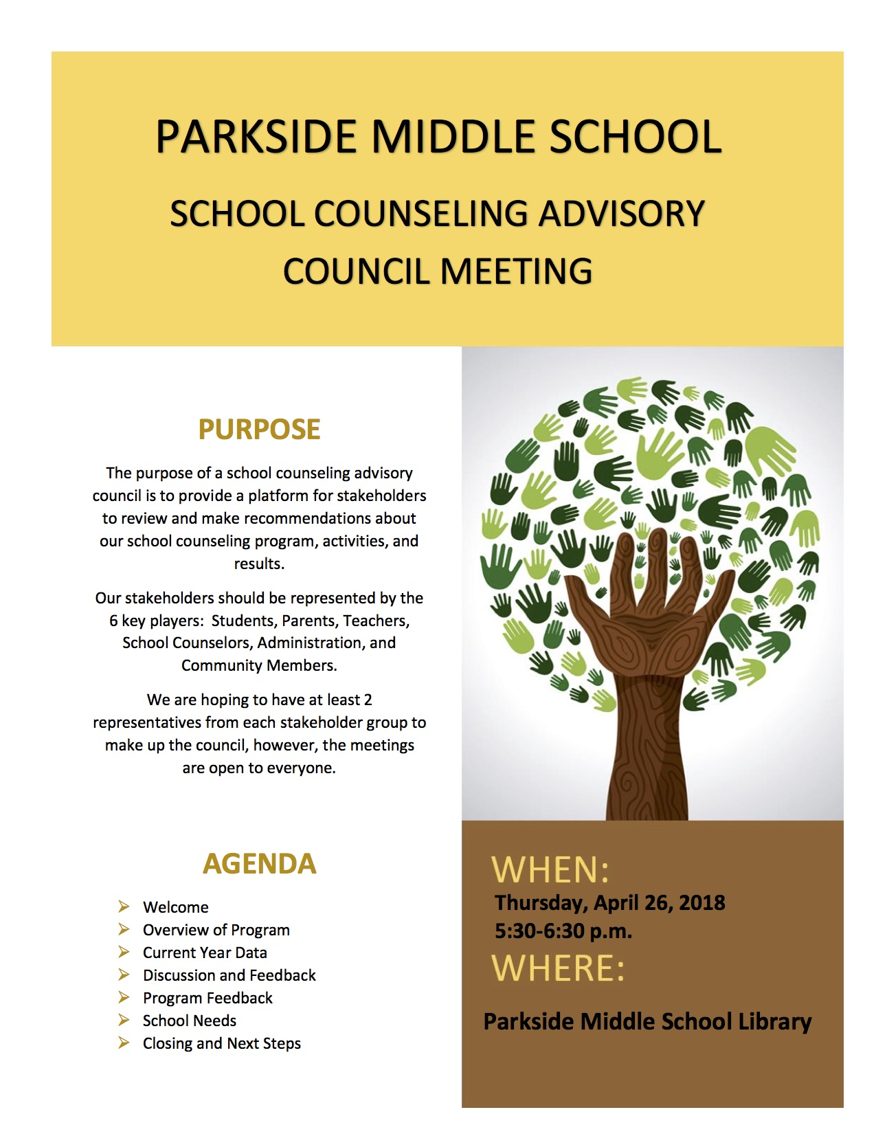 advisory council flyer